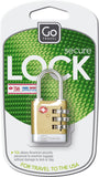 Go Travel Brass Combination Sentry Lock