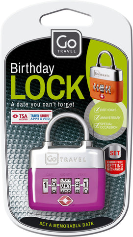 Go Travel TSA Birthday Combination Lock Various Colours