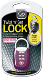 Go Travel TSA Twist 'N' Turn Set Lock Various Colours