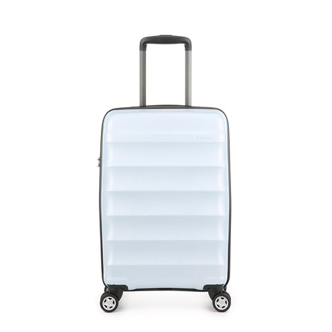 Antler Juno Camber Cabin/Carry On 56cm Light Blue Expandable Hard Suitcase