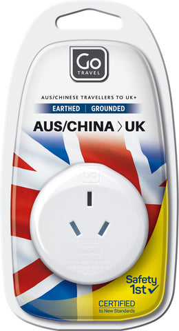 Go Travel Australia/New Zealand to UK Adaptor