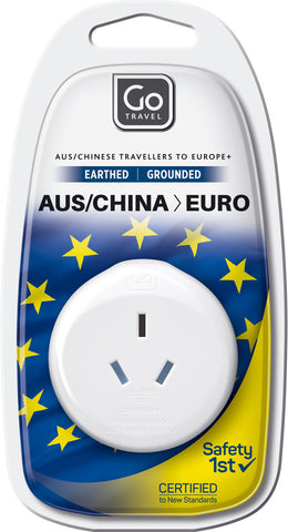 Go Travel Australia/New Zealand to Europe Adaptor