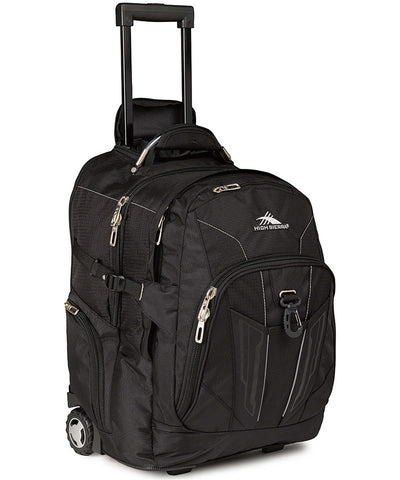 "High Sierra Wheeled Backpack 17"" Black"