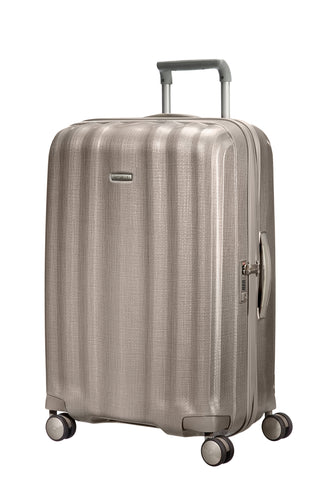 Samsonite Lite Cube Medium 76cm Ivory Gold Hard Suitcase