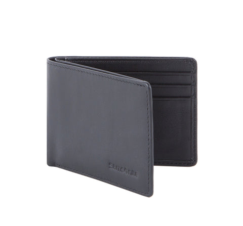 Samsonite RFID Blocking Black Compact Leather Wallet