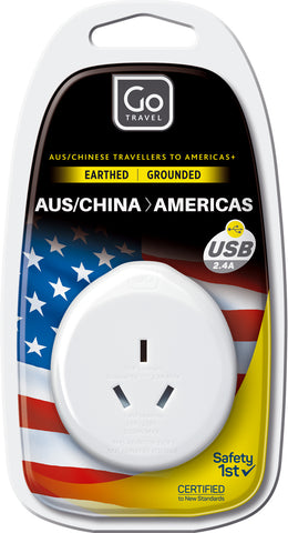 Go Travel Single USB AUSTRALIA/USA Adapter