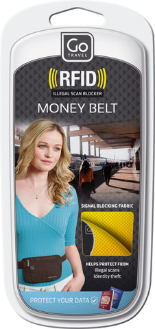 Go Travel RFID Body Money Belt Various Colours