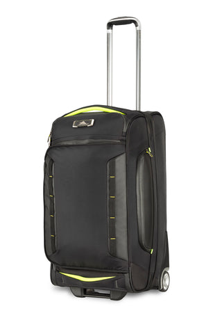 High Sierra AT8 Medium 66cm Wheeled Black/Green Duffles