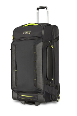 High Sierra AT8 Large 81cm Wheeled Black/Green Duffles