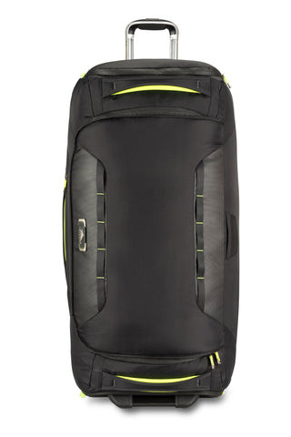 High Sierra AT8 Extra Large 86cm Wheeled Black/Green Duffles