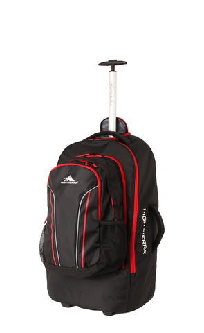 High Sierra Composite 56cm Wheeled Duffel Black/Red
