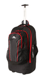 High Sierra Composite Large 76cm Wheeled Duffle Detachable Backpack Black/Red