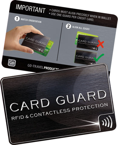 Go travel rfid blocking card gaurds reheart Image collections