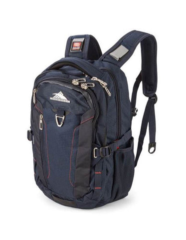 "High Sierra Tephra 17"" Laptop Midnight Blue/Red Backpack"