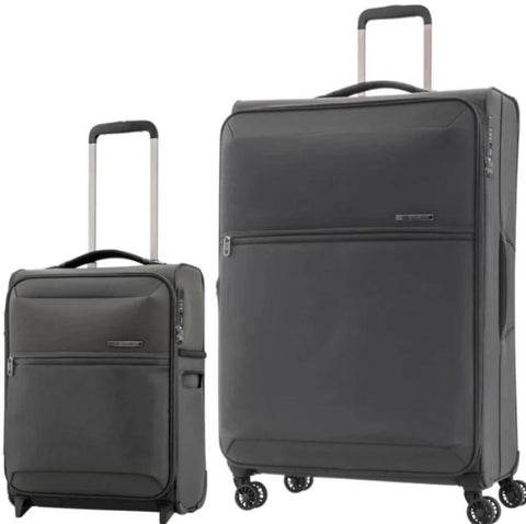 Samsonite 72 Hours Dlx Large 78cm And Cabin/Carry On 50cm Platinum Grey Softcase Set