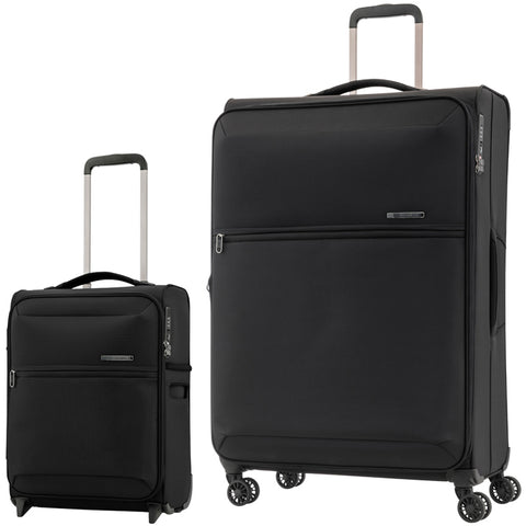Samsonite 72 Hours Dlx Large 78cm And Cabin/Carry On 50cm Black Softcase Set