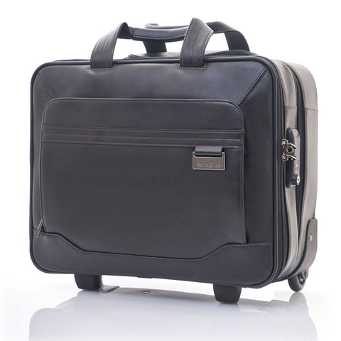 "Samsonite Savio Leather IV 15.6"" Rolling Tote"