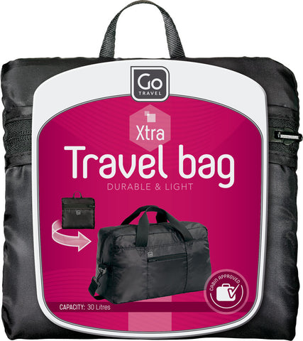 Go Travel Foldable Black Bag Various Colours