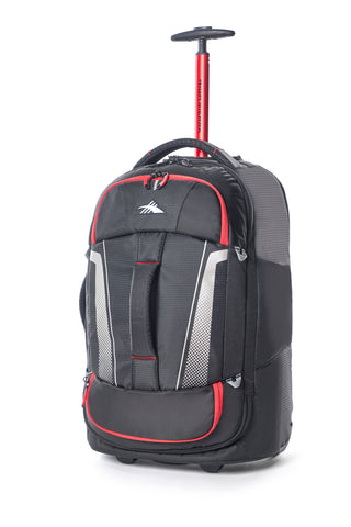 High Sierra Composite V3 Black/Red Cabin/Carry On 56cm Wheeled Duffle