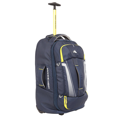 ... High Sierra Composite V3 Navy Yellow Cabin Carry On 56cm Wheeled Duffle  ... 160cab79e7e0a