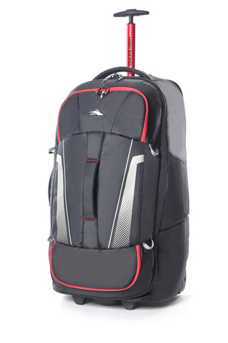 High Sierra Composite V3 Black/Red Medium 76cm Wheeled Duffle