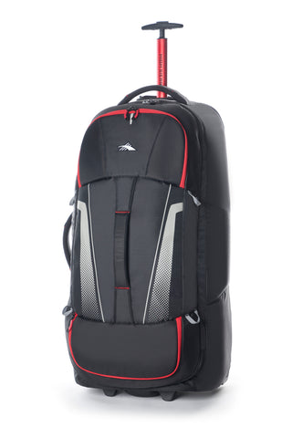High Sierra Composite V3 Black/Red Large 84cm Wheeled Duffle