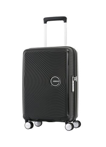 American Tourister Curio Cabin/Carry On 55cm Black Hardcase