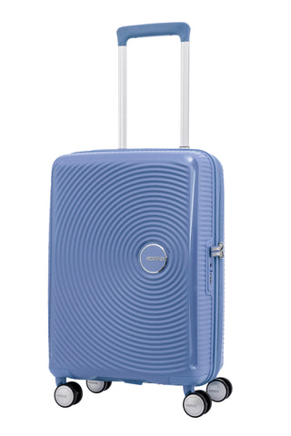 American Tourister Curio Cabin/Carry On 55cm Denim Blue Hard Suitcase