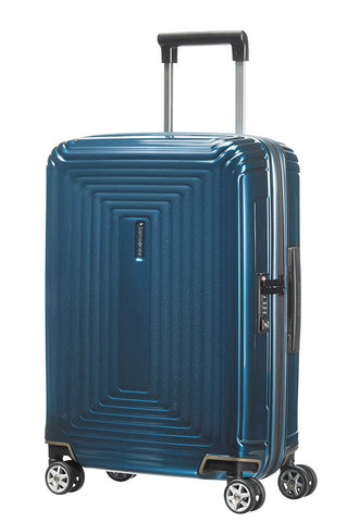 Samsonite Aspero Cabin/Carry On 55cm Hard Suitcase Metallic Blue