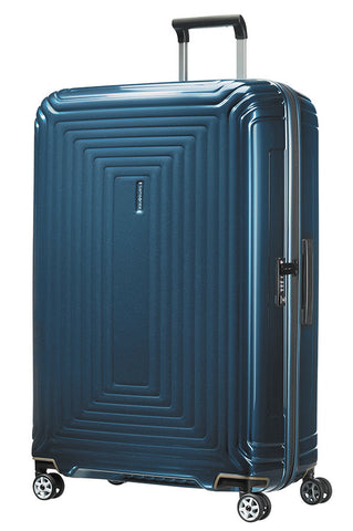 Samsonite Aspero 75cm Large Hard Suitcase Metallic Blue