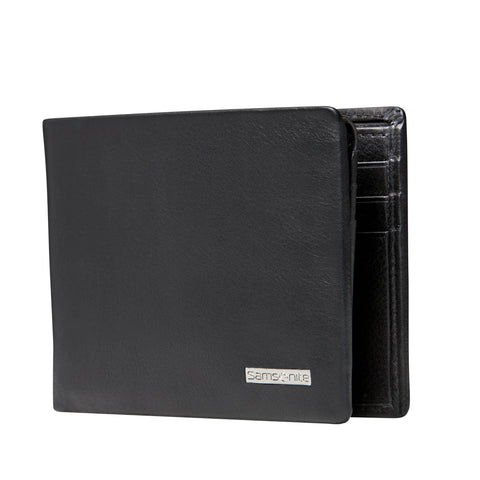 Samsonite DLX RFID Black Leather Wallet