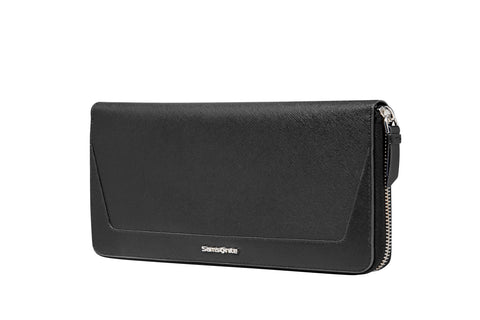 Samsonite RFID Ladies Black Promendae Leather Passport Cover