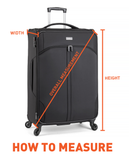 Antler Global Medium 67cm Black Expandable Hard Suitcase