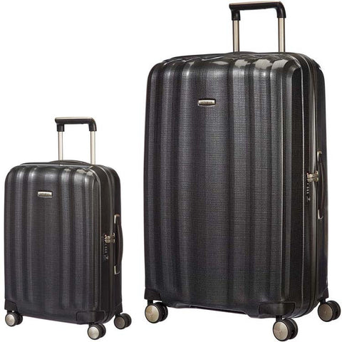 Samsonite Lite Cube Large 82cm And Cabin/Carry On 55cm Graphite Set