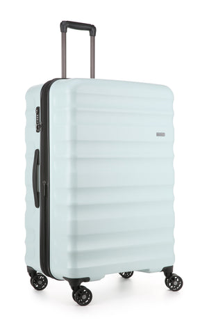 Antler Clifton Large 80cm Light Blue Expandable Hard Suitcase