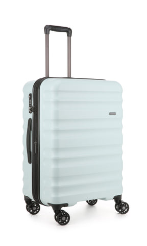 Antler Clifton Medium 68cm Light Blue Expandable Hard Suitcase