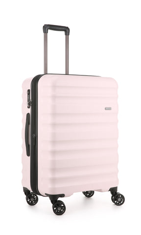 Antler Clifton Medium 68cm Pale Pink Expandable Hard Suitcase