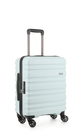 Antler Clifton Cabin/Carry On 56cm Light Blue Expandable Hard Suitcase