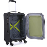 Antler Zeolite Medium 66cm And Cabin/Carry On 56cm Charcoal Softcase Set