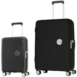 American Tourister Curio Large 80cm And Cabin/Carry On 55cm Black Set