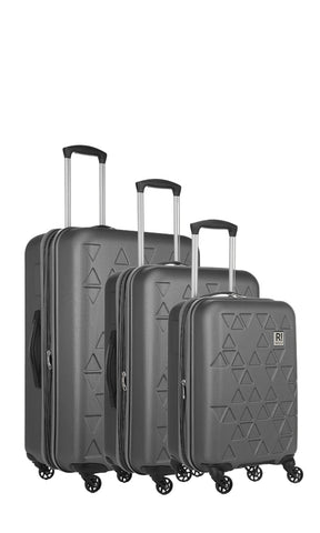 Revelation Echo Max 3 Piece Charcoal Suitcase Set