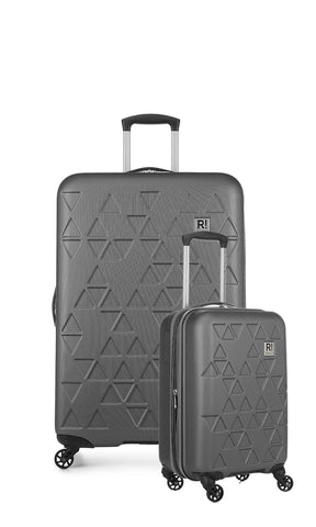 Revelation Echo Max Large 77cm And Cabin/Carry On 56cm Charcoal Hard Suitcase Set