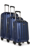 Antler Global 3 Piece Navy Expandable Hard Suitcase Set with FREE Luggage Leash