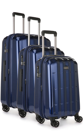 Antler Global 3 Piece Navy Expandable Hardcase Set