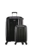 Antler Global Large 79.5cm And Cabin/Carry On 56cm Black Expandable Hardcase Set
