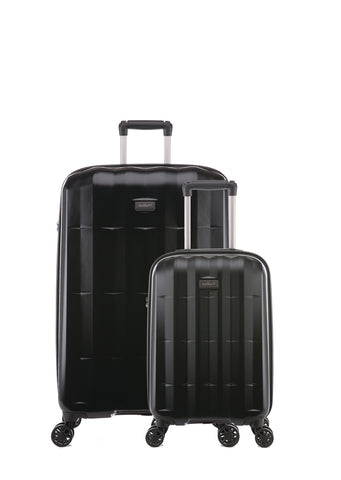 Antler Global Medium 67cm And Cabin/Carry On 56cm Black Expandable Hardcase Set