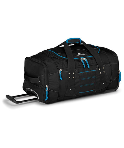 High Sierra Ultimate Access Large 76cm Black/Blue Wheeled Duffle