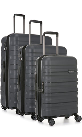 Antler Juno 2 Charcoal Expandable 3 Piece Hardcase Set