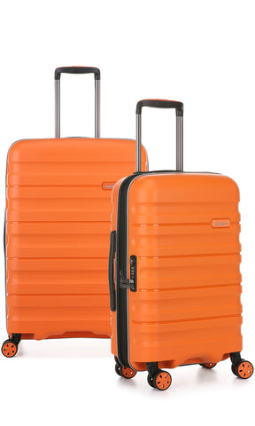 Antler Juno 2 Medium 68cm And Cabin/Carry On 56cm Orange Expandable Hardcase Set