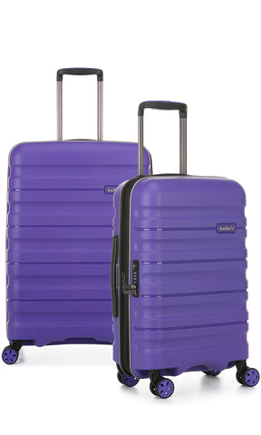 Antler Juno 2 Medium 68cm And Cabin/Carry On 56cm Purple Expandable Hardcase Set
